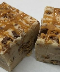 Caramel Vanilla Fudge with Snicker Pieces